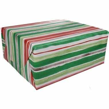 Feestwinkel | gestreept cadeaupapier 70 x 200 cm morgen amsterdam
