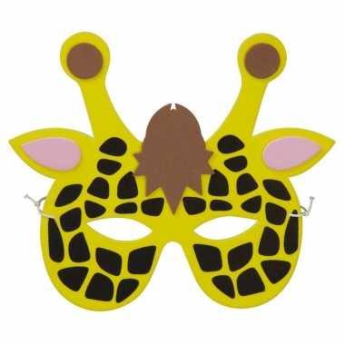 Feestwinkel | giraffes foam masker voor kinderen morgen amsterdam