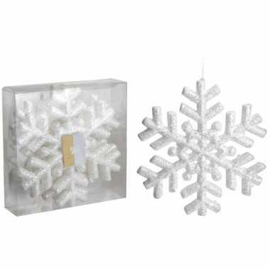Glitter sneeuwvlokken 3 stuks 20 cm