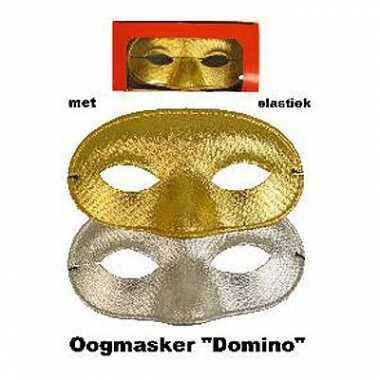 Goud of zilverkleurig oogmasker met glitters