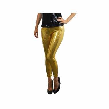Gouden dames leggings met pailletten