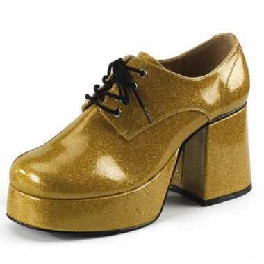 Gouden glitter schoen heren