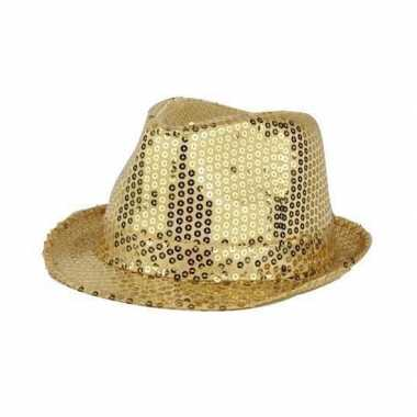 Gouden hoed met pailletten