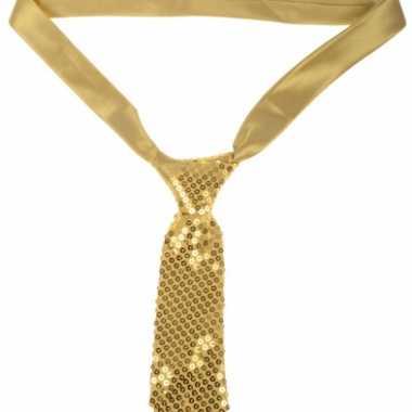 Feestwinkel |  Gouden stropdas met pailletten morgen Amsterdam