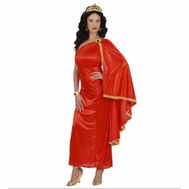 Griekse romeinse jurk rood