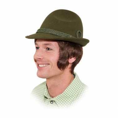 Feestwinkel | groen oktoberfest hoedje voor volwassenen morgen amster