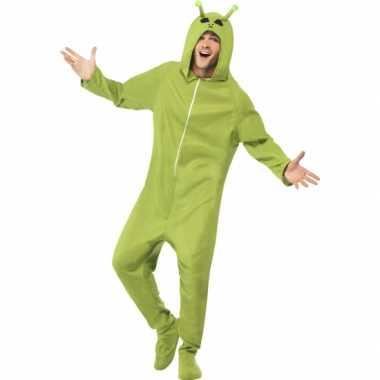 Groene alien onesie