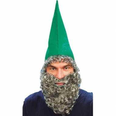 Groene dwergen muts met baard