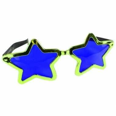 Groene stervormige xl verkleed bril voor volwassenen