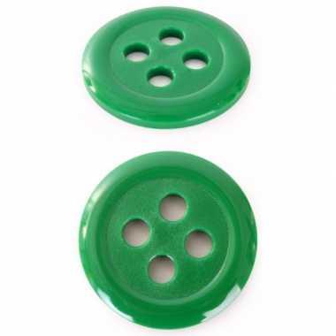 Groene verkleed knopen