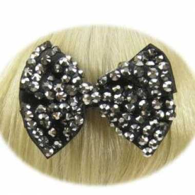 Haarklemmen strikje zwart