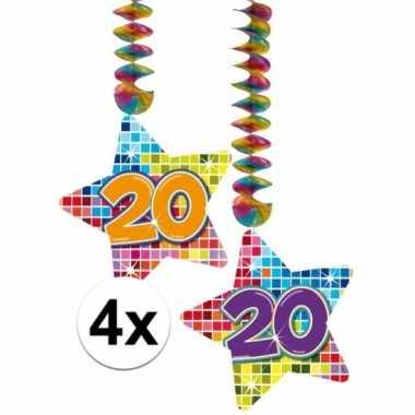 Feestwinkel | hangdecoraties 20 jaar 4 stuks morgen amsterdam
