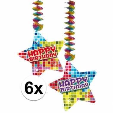 Feestwinkel | hangdecoraties happy birthday jaar 6 stuks morgen amste