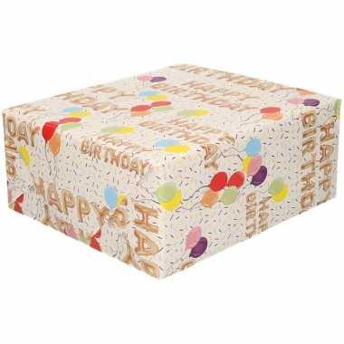 Happy birthday cadeaupapier 70 x 200 cm 10155548
