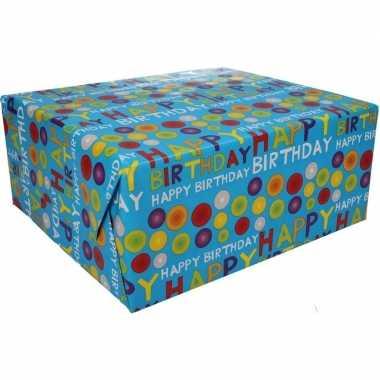 Feestwinkel | happy birthday cadeaupapier 70 x 200 cm morgen amsterda