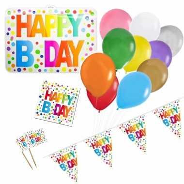 Feestwinkel | happy birthday verjaardag versieringen pakket voor elke leeftijd morgen amsterdam