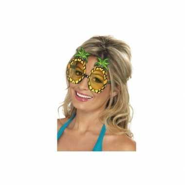 Hawaii thema bril met ananas glazen