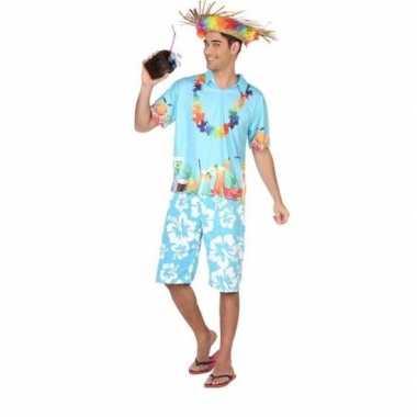 Feestwinkel | hawaiiaans/tropisch kostuum/set voor heren morgen amste