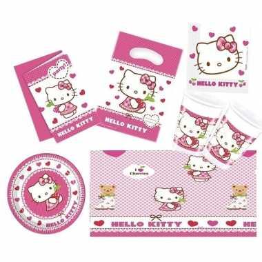Feestwinkel | hello kitty feestje versiering pakket 7-12 personen mor