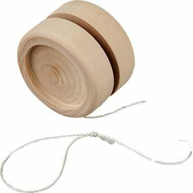Hobby jojo hout zelf inkleurbaar 5 cm