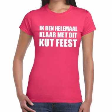 Feestwinkel | ik ben helemaal klaar met dit kutfeest fun t-shirt voor