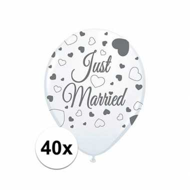 Feestwinkel | just marriedbruiloft versiering balonnen 40x stuks morg