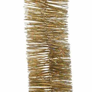 Feestwinkel | kerst lametta guirlande goud glitters/glinsterend 7,5 x