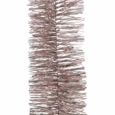 Feestwinkel | kerst lametta guirlande lichtroze 7 x 270 cm kerstboom