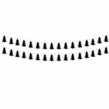 Feestwinkel | kerst versiering zwarte kerstbomen slinger morgen amste