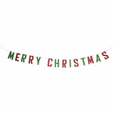 Kerstdecoraties merry christmas slingers