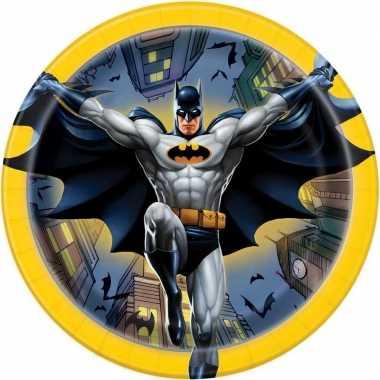 Feestwinkel | kinderfeestje bordjes 17cm batman 8 stuks tafeldecorati