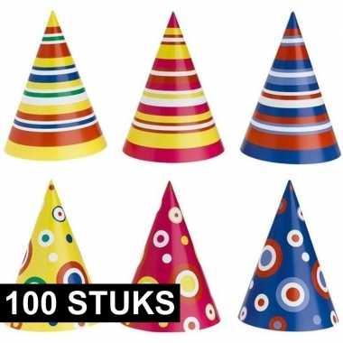 Feestwinkel | kinderfeestje hoedjes karton 100 stuks morgen amsterdam