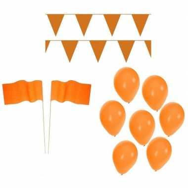 Feestwinkel | koningsdag feestpakket met oranje versiering en decorat