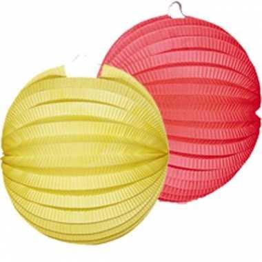 Lampionnen pakket geel en rood