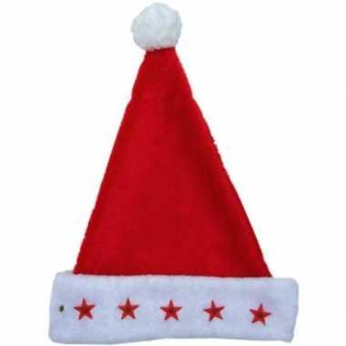 Feestwinkel | lichtgevende kerstmuts van pluuche morgen amsterdam