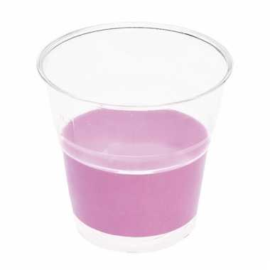 Lila paarse wegwerp bekertjes 10 stuks