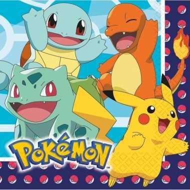 Feestwinkel | lunchservetten pokemon 48 stuks tafeldecoratie morgen a