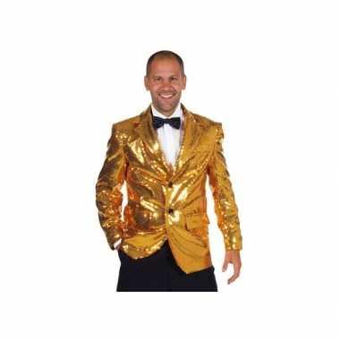 Luxe gouden colbert voor heren