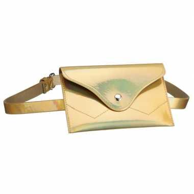 Feestwinkel | metallic goud mini heuptasje aan riem voor dames morgen