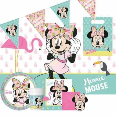 Feestwinkel | minnie mouse feestje versiering pakket 6-12 personen mo