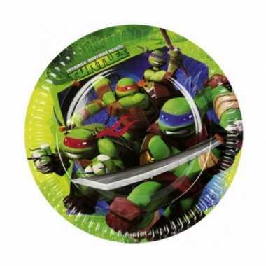 Ninja turtles feestbordjes 8 stuks