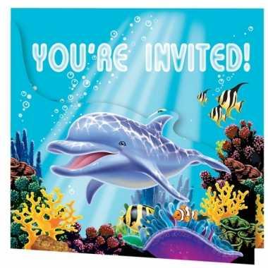 Feestwinkel |  Oceaan uitnodigingen 8 stuks morgen Amsterdam