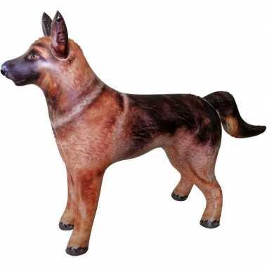 Feestwinkel | opblaas duitse herdershond dieren 75 cm realistische pr