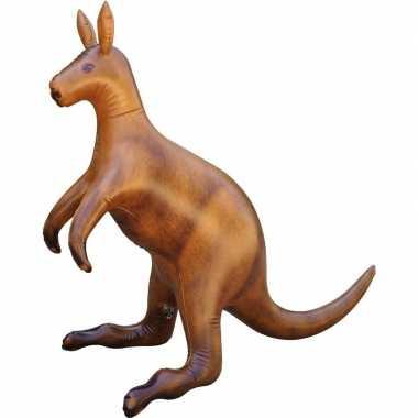 Feestwinkel | opblaas kangoeroe dieren 75 cm realistische print morge
