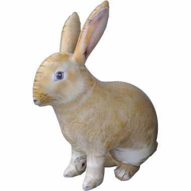Feestwinkel | opblaas konijn/haas dieren 75 cm realistische print mor