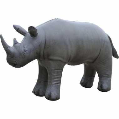 Feestwinkel | opblaas neushoorn dieren 45 cm realistische print morge