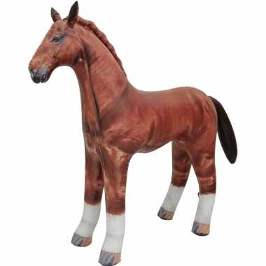Feestwinkel   opblaas paard dieren 75 cm realistische print morgen am