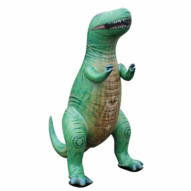 Feestwinkel |  Opblaas T-Rex dino groen 94 cm morgen Amsterdam