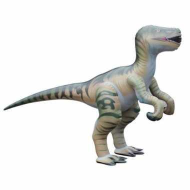 Feestwinkel |  Opblaas Velociraptor dino bruin  130 cm morgen Amsterd