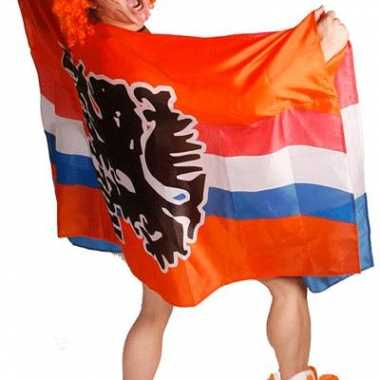 Oranje leeuwen supportes poncho